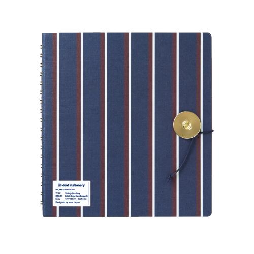 No.8820 British Stripe Navy/Burgundy